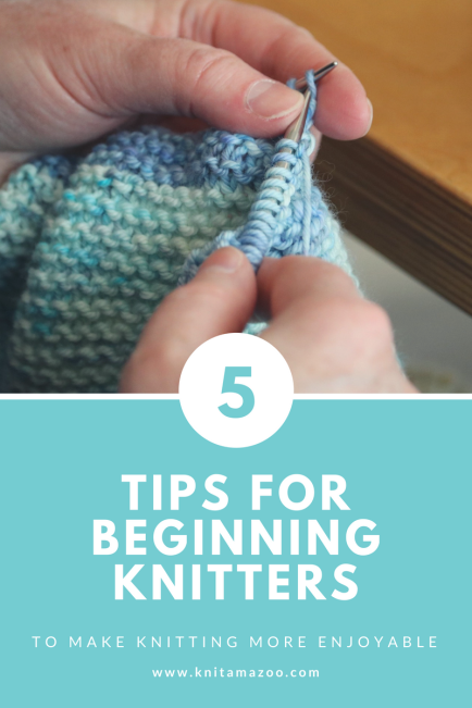 My top 5 tips for beginning knitters.